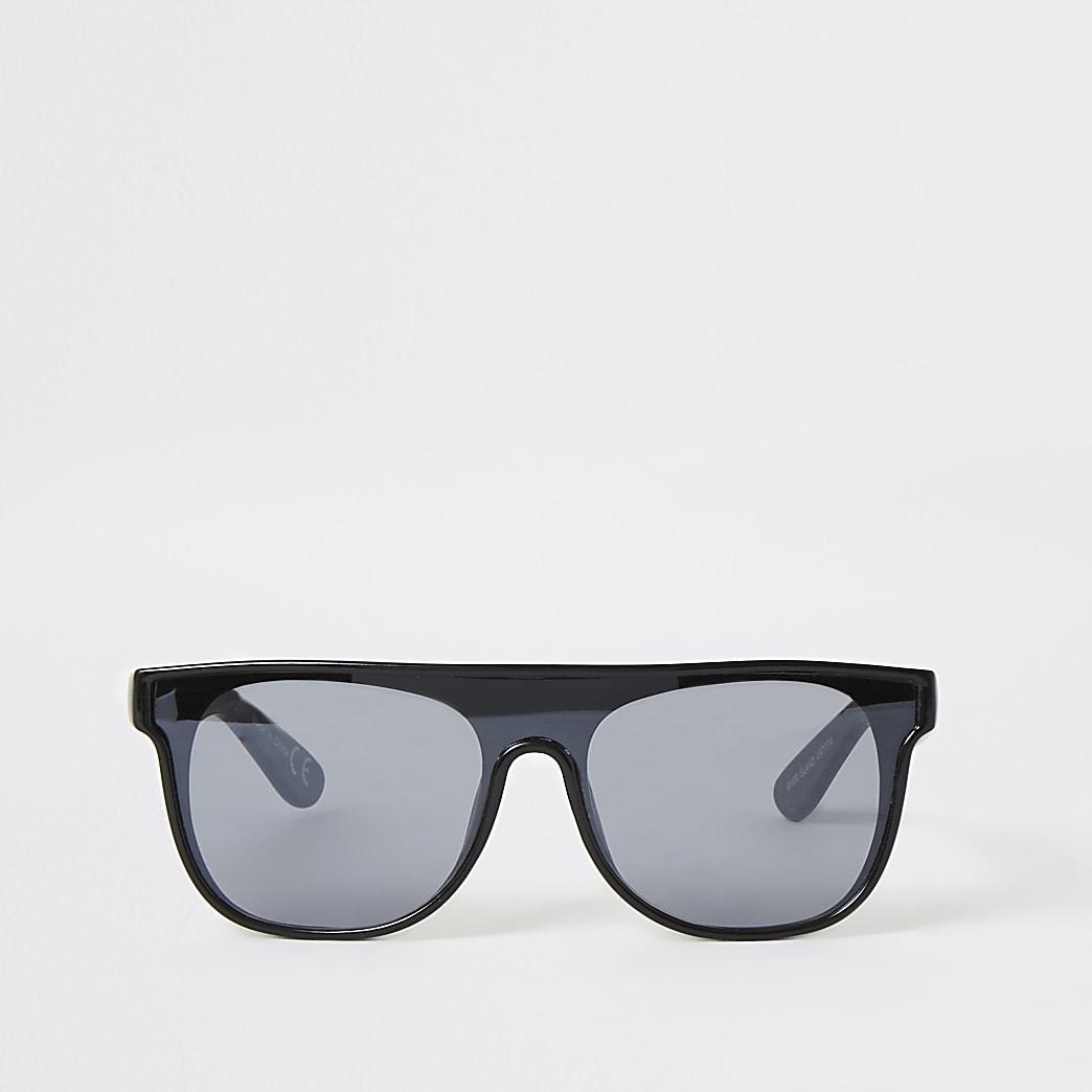 Mini - Zwarte visor zonnebril voor jongens
