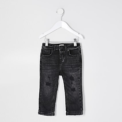 Mini boys black washed jeans