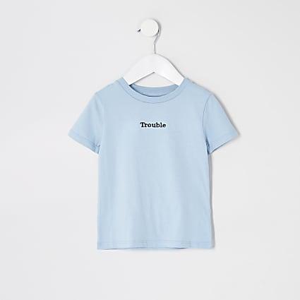 Mini Boys Blue- Light Trouble Multibuy Tshirt
