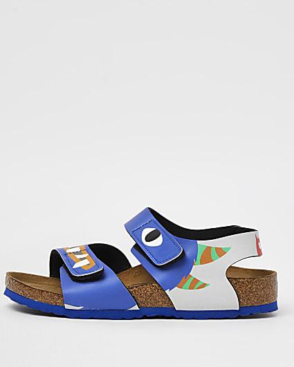 Mini boys blue Birkenstock monster sandals