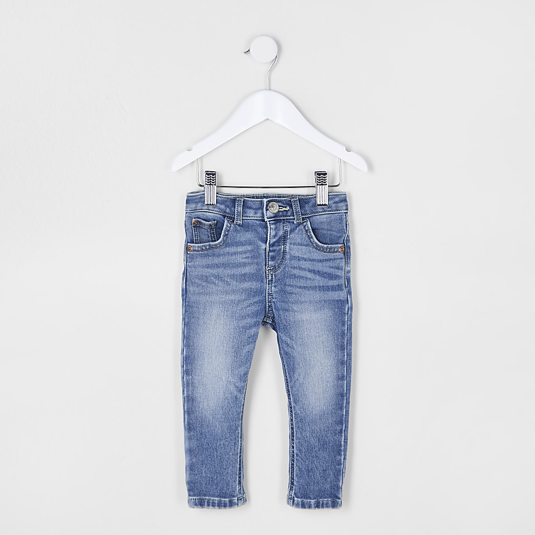 Mini boys blue comfort skinny fit jeans