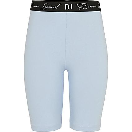 Mini boys blue cycling shorts