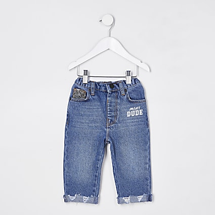 Mini boys blue 'Dude' jeans