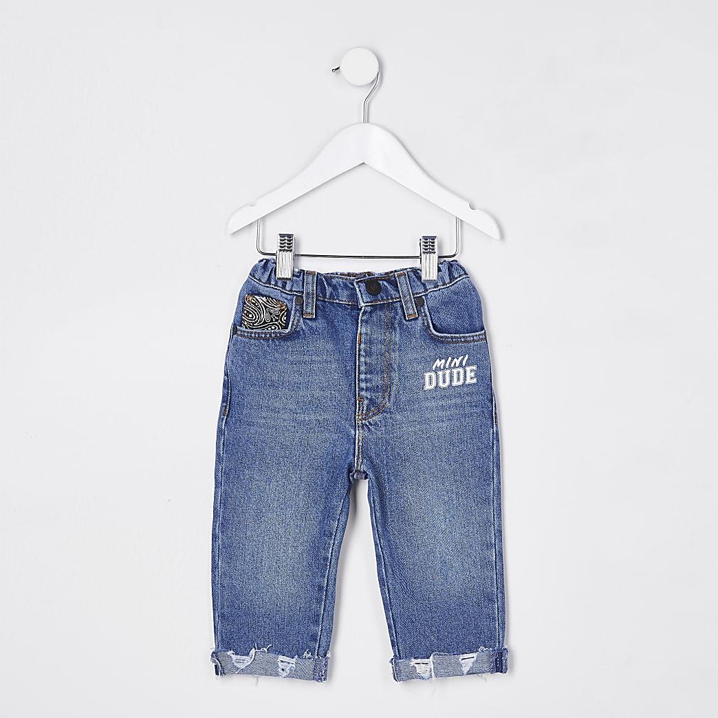 Mini boys blue 'Dude' jeans