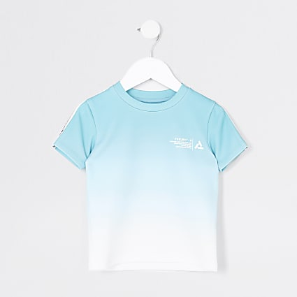 Mini boys blue fade 'Project R' t-shirt