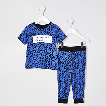 Mini boys blue 'Future icon' outfit