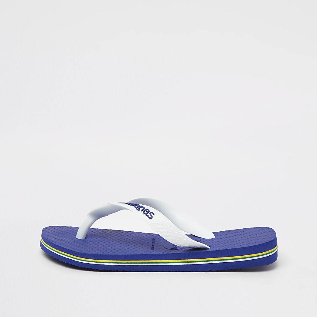 Mini boys blue Havaianas flip flops