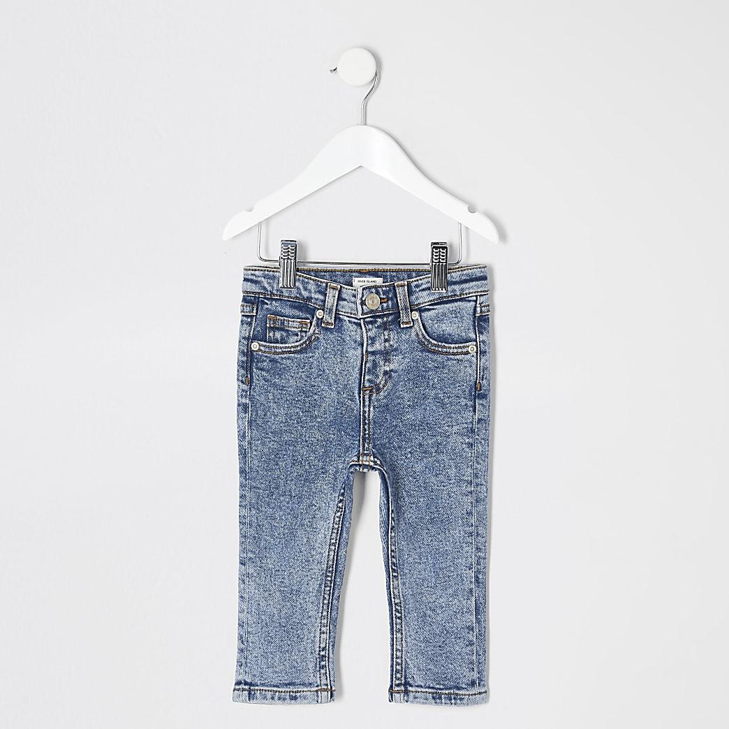 Mini - Blauwe Jake jeans met normale pasvorm voor jongens