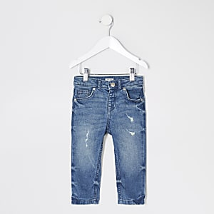 Mini - Jake - Blauwe regular fit jeans voor jongens
