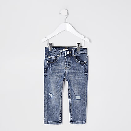Mini boys blue Jake ripped jeans