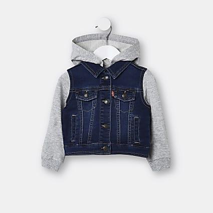 Mini boys blue Levi's  denim hybrid jacket