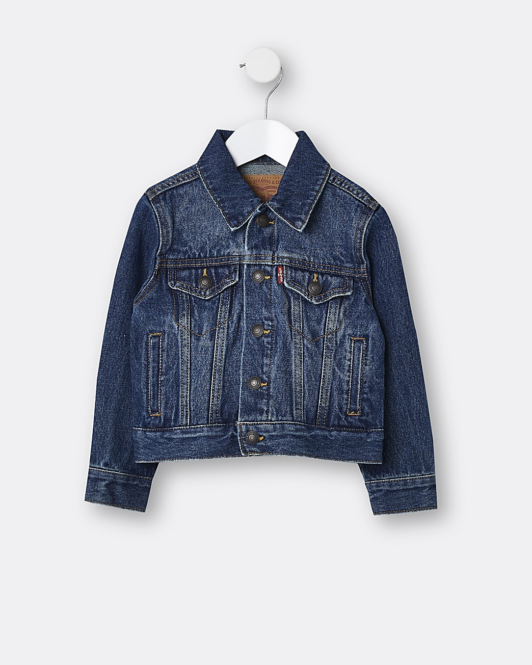 Mini boys blue Levi's denim jacket