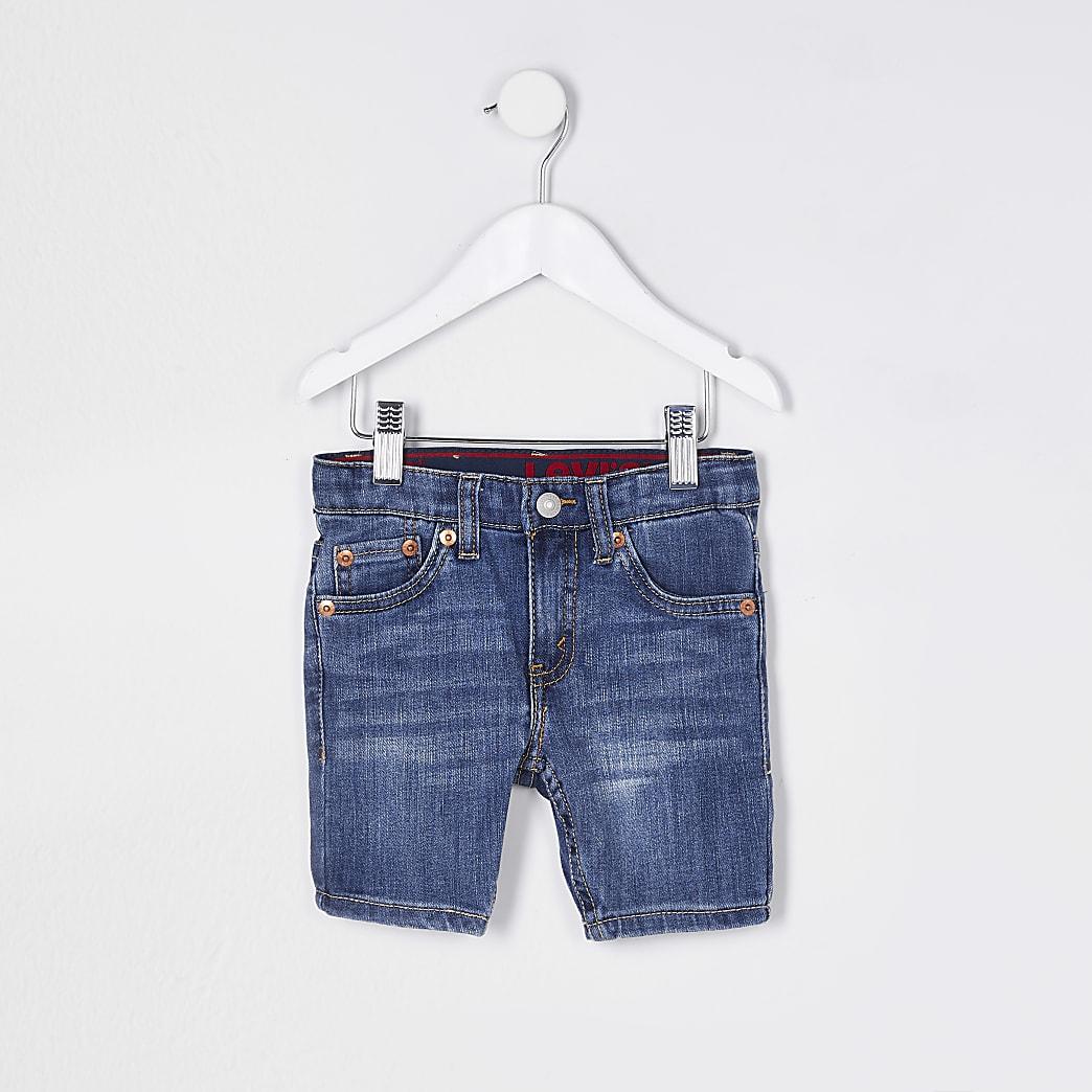 Mini boys blue Levi's denim shorts