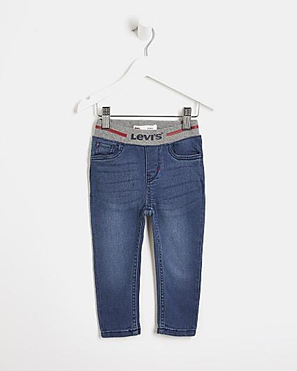 Mini boys blue Levi's pull on jeans