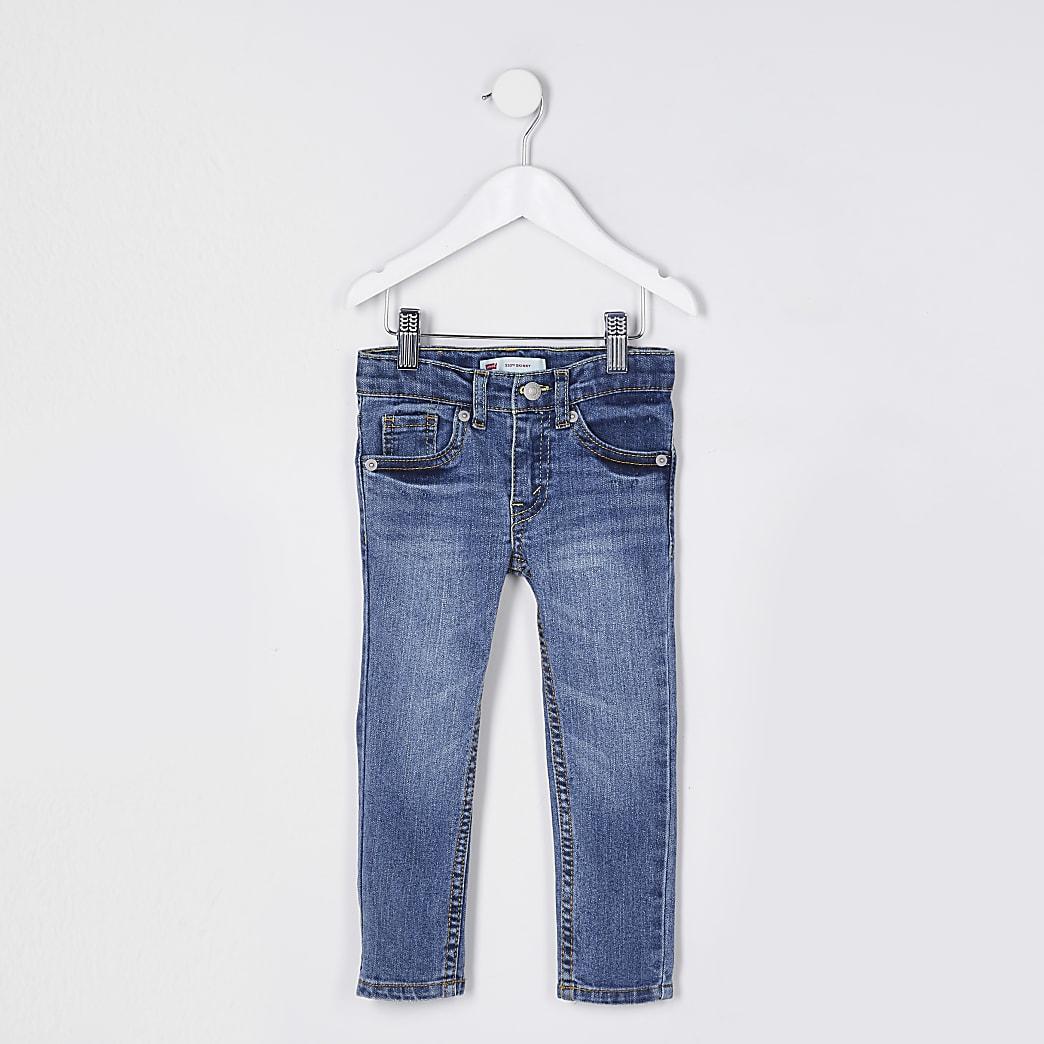 Mini boys blue Levi's skinny fit jeans