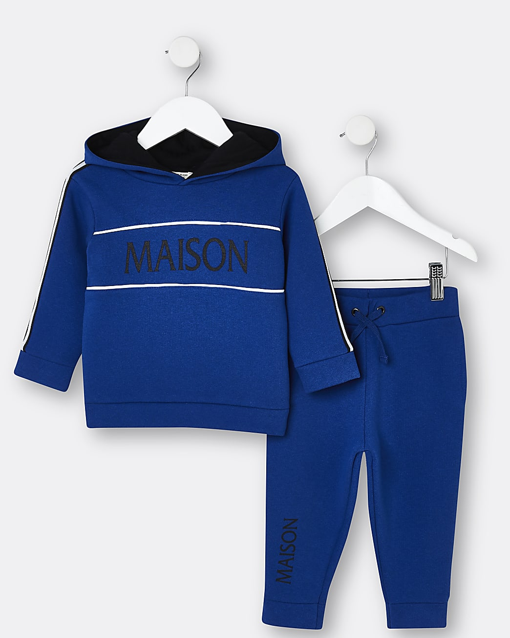 Mini boys blue Maison Riviera hoodie outfit