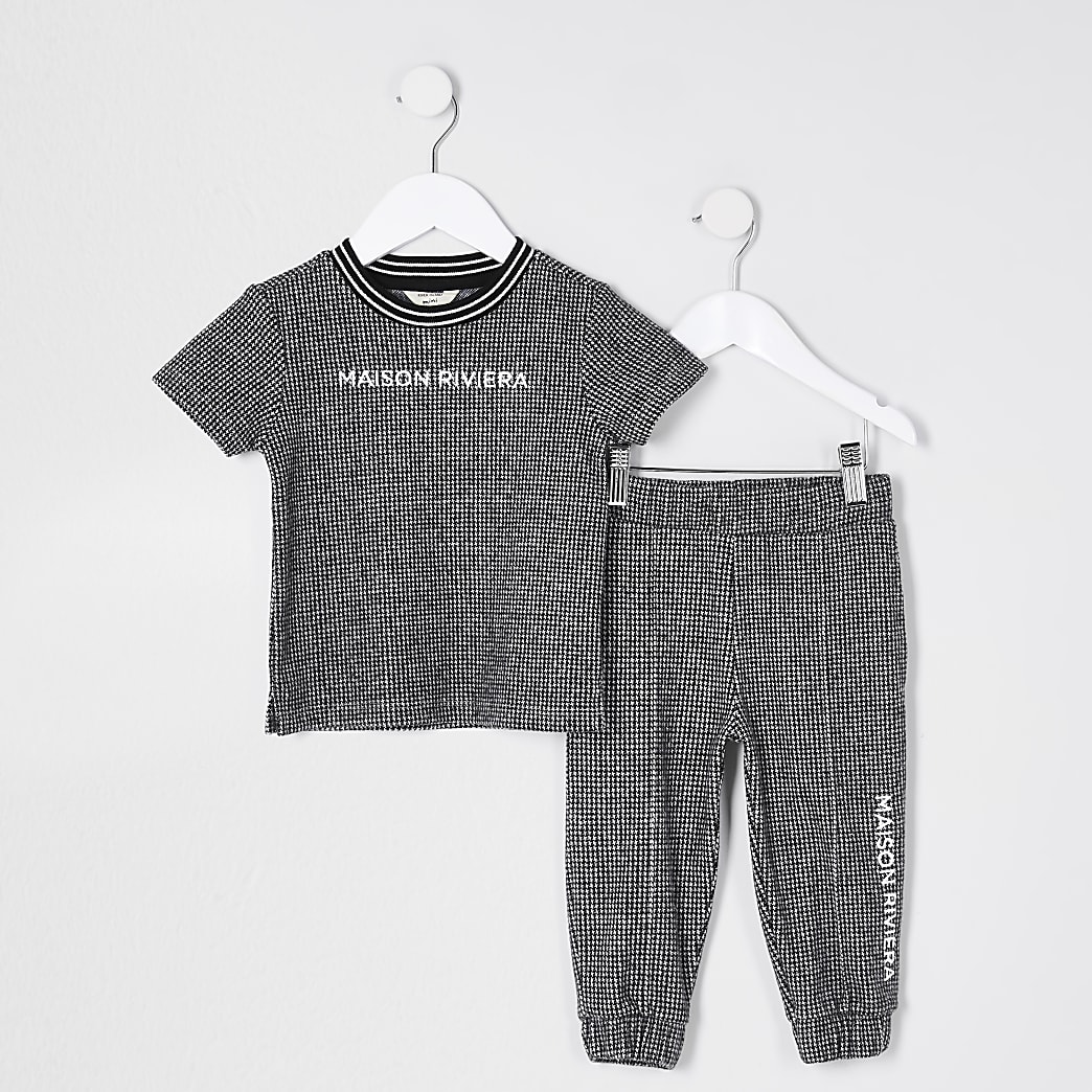 Mini boys blue 'Maison Riviera' outfit