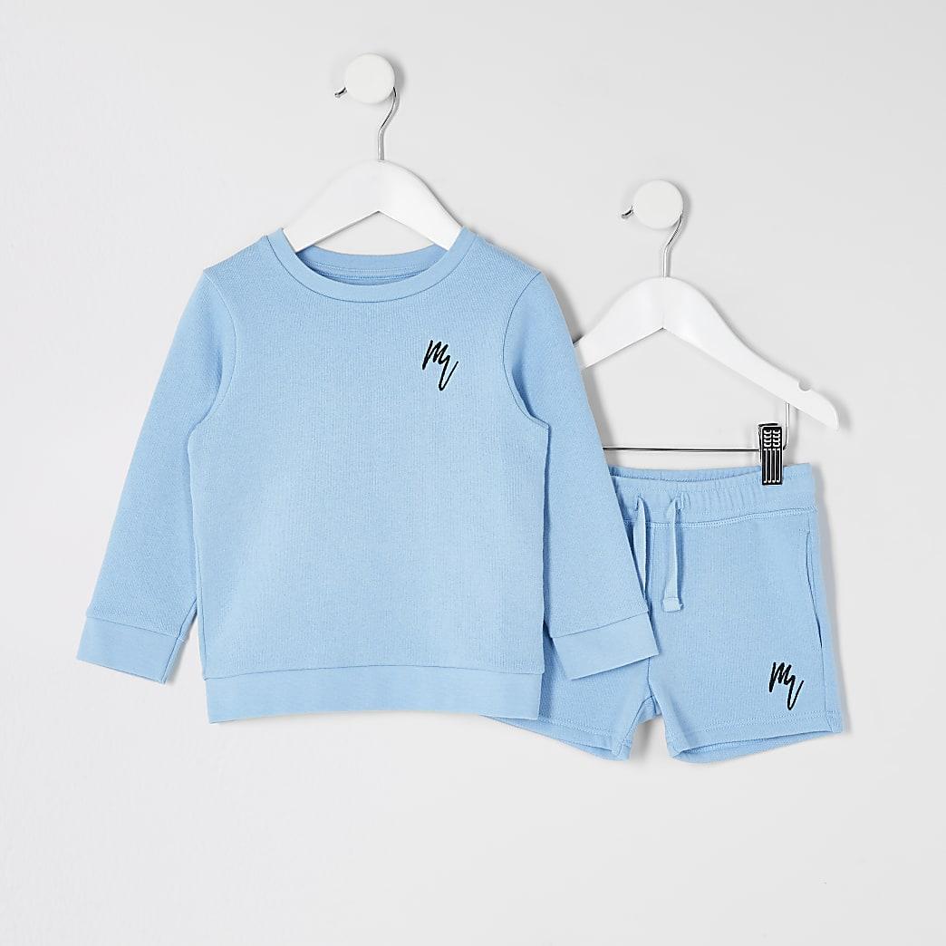 MaisonRiviera- Blauwe sweater outfit voor mini-jongens