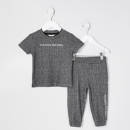 Mini boys blue 'Masion rivier' outfit
