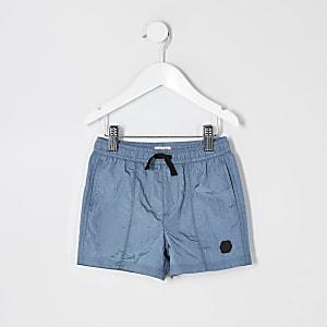 Mini – Blaue Nylonshorts