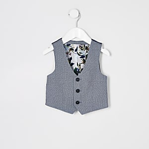 Blaue Anzugsweste mit Punkten für kleine Jungen