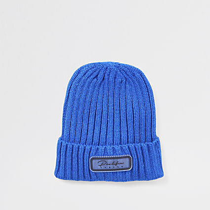 Mini boys blue prolific beanie hat