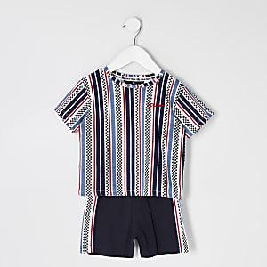 Mini – Prolific – Blauer Pyjama mit Print