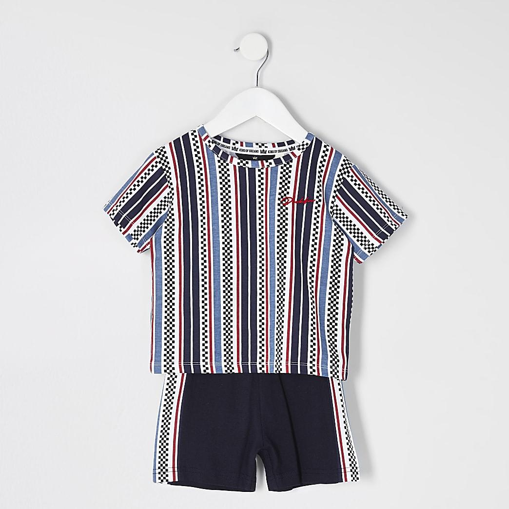 Mini - Prolific - Blauwe pyjama met print voor jongens