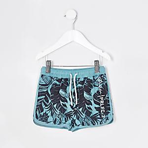 Mini - Prolific - Blauwe zwemshort met print voor jongens