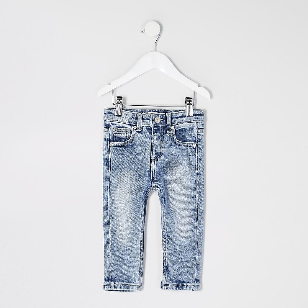 Mini boys blue Prolific Sid skinny jeans