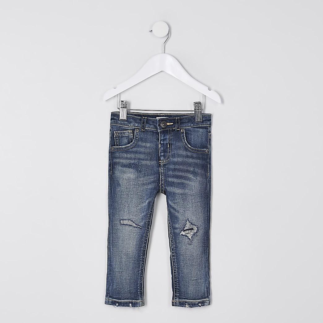 Mini boys blue regular slim jean