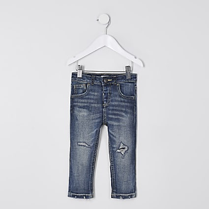 Mini boys blue regular slim jeans