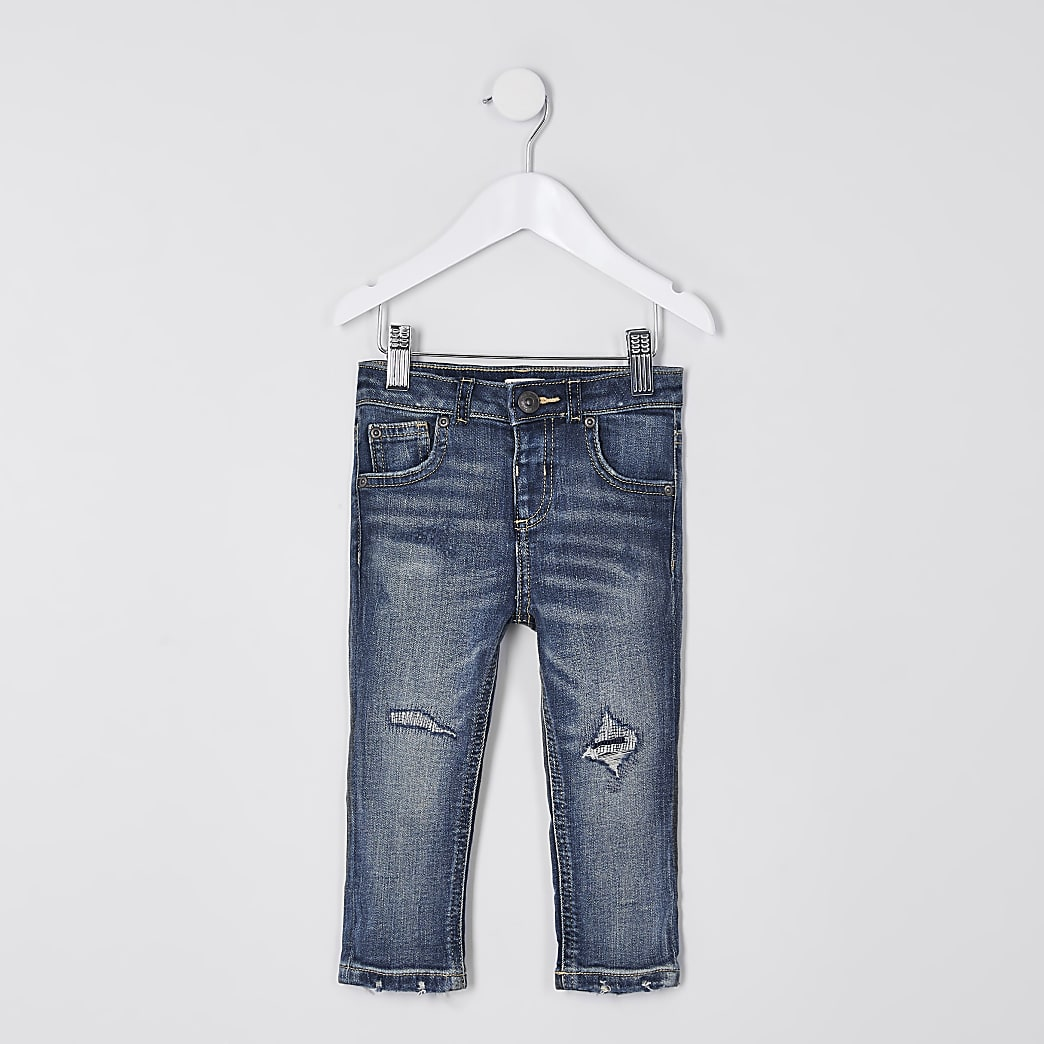 Mini boys blue regular slim jeans