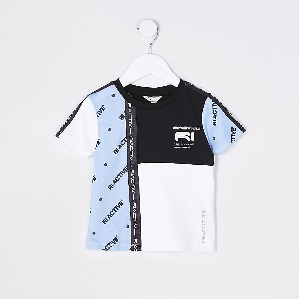 Mini boys blue RI Active colour block t-shirt