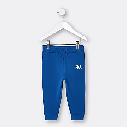 Mini boys blue RIR printed joggers