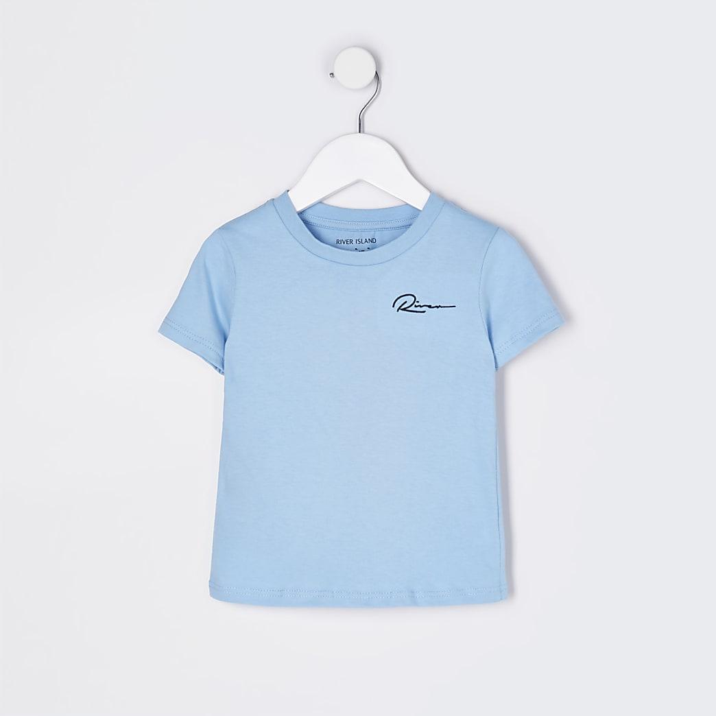Mini boys blue 'River' t-shirt