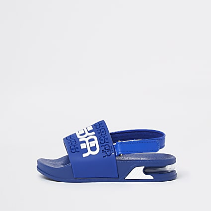 Mini boys blue RR bubble sole sliders