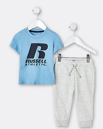 Mini boys blue Russell Athletic jogger set