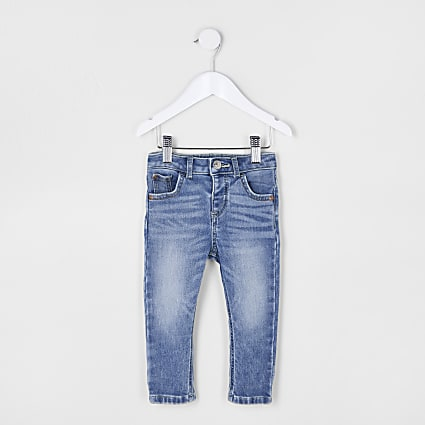Mini boys blue Sid comfort skinny fit jeans