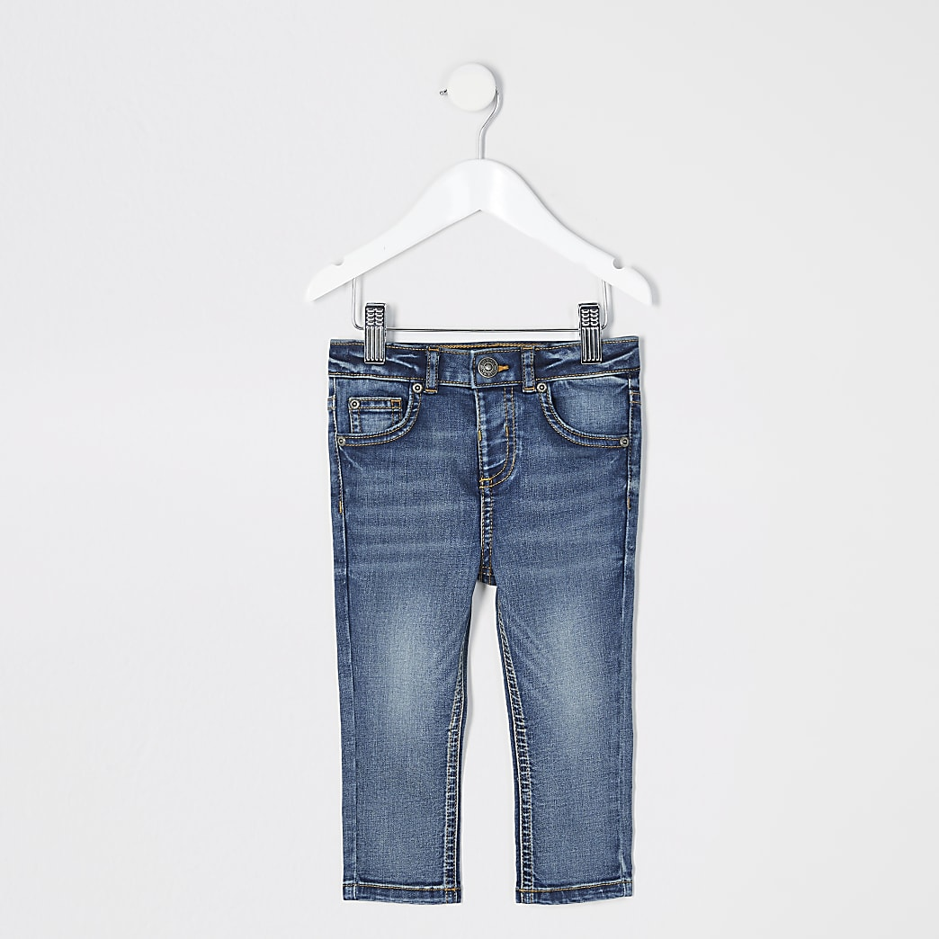 Mini boys blue Sid skinny jeans