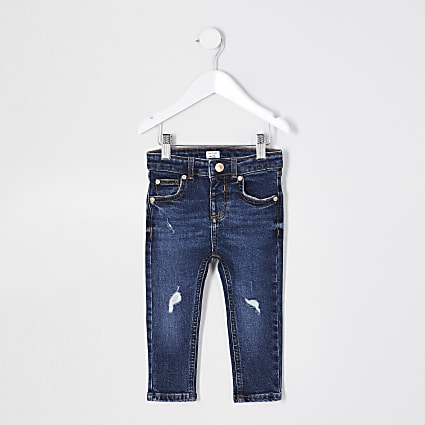 Mini boys blue skinny fit jean