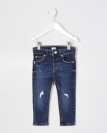 Mini boys blue skinny fit jean