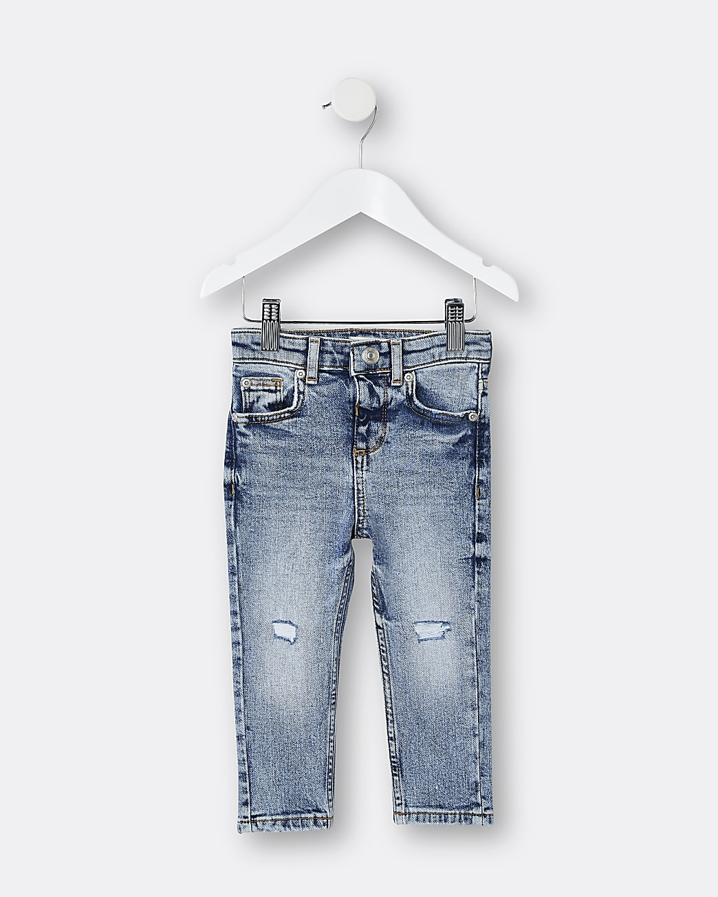 Mini boys blue skinny jeans