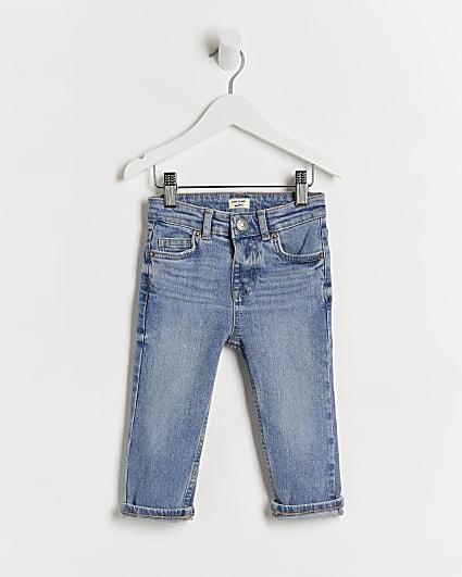 Mini boys blue slim fit jeans