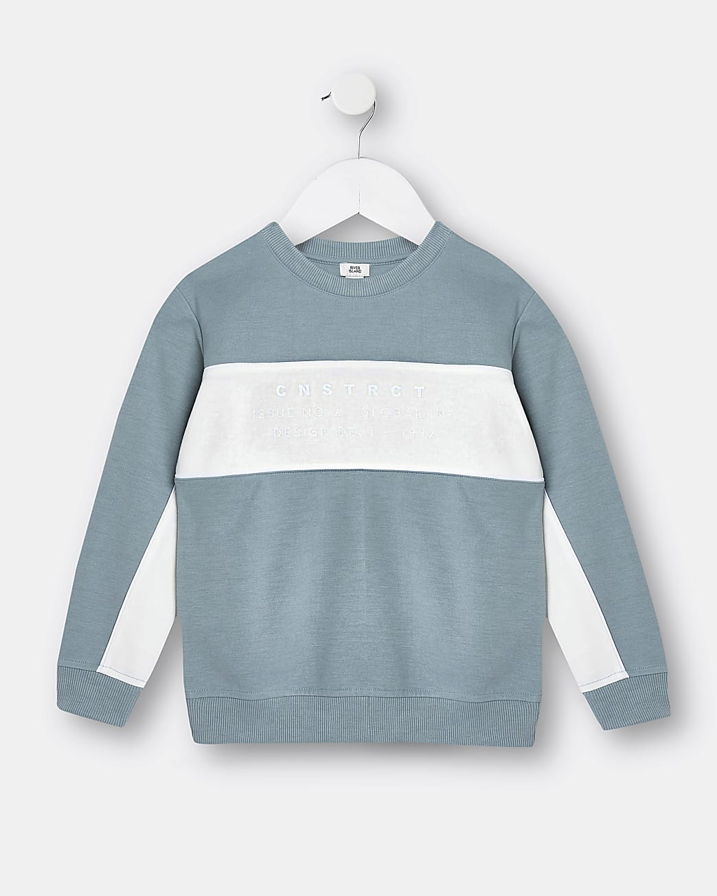 Mini boys blue stripe sweatshirt