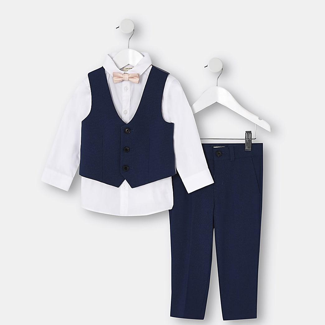 Mini - Blauw kostuum voor jongens