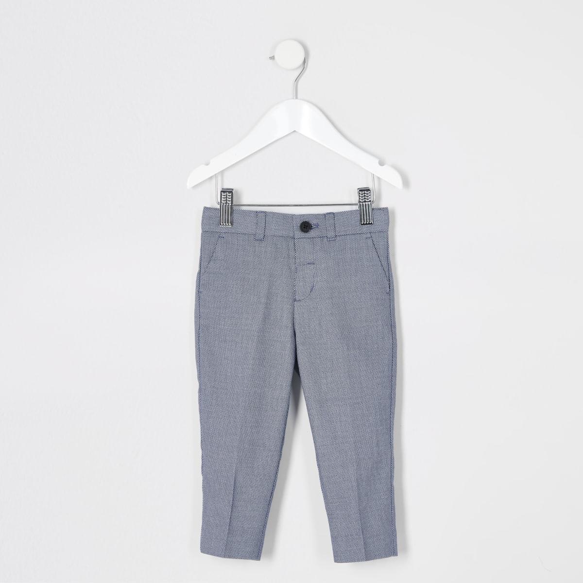 Pantalons de costumebleus à poistexturés Mini garçon
