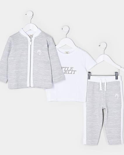 Mini boys bomber jacket 3 piece outfit