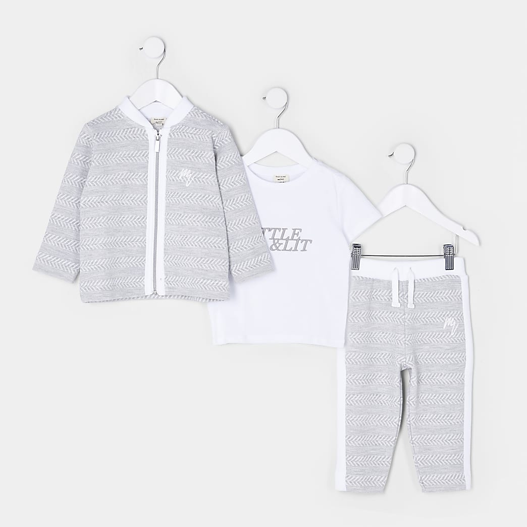 Mini boys bomber jacket 3 piece outfit