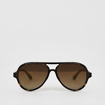 Mini boys brown aviator sunglasses